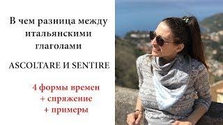 ИТАЛЬЯНСКИЕ ГЛАГОЛЫ ASCOLTARE И SENTIRE| Ур.51 Итальянский язык для начинающих