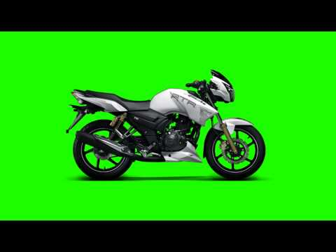 motorcycle in green screen free stock footage