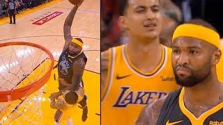 DeMarcus Cousins Destroys Kyle Kuzma with EPIC Dunk | Warriors vs Lakers