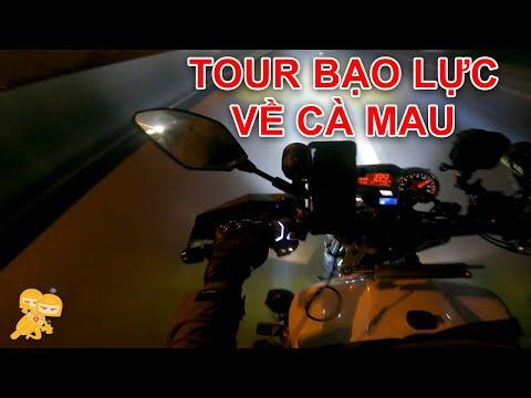 Không Đi ĐẠI HỘI MOTO Thì Mình Đi Phượt B.Ạ.O L.Ự.C Về Cà Mau - Xe Ôm Vlog