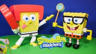 SPONGEBOB Nickelodeon Sponge Bob Talking Figures a Spongebob Video Toy Review