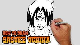 How to Draw Sasuke Uchiha- Naruto- Step by Step Video Lesson