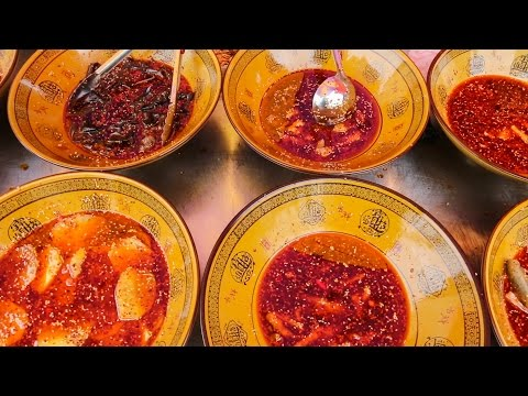 SPICY Chinese Street Food Tour in Chengdu, China |  BEST Street Food in Szechuan,  China