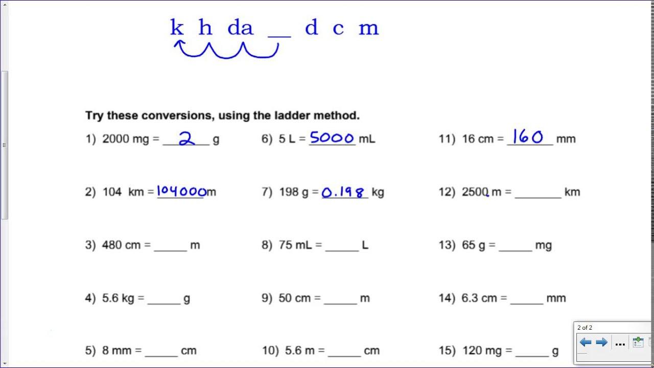 worksheet Converting Metric Units Worksheet 7th Grade metric conversion worksheet with answers free worksheets library m ni c versi pr ctice key youtube