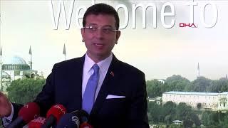 Ekrem İmamoğlu İBB'nin Saraçhane'deki binasında konuştu