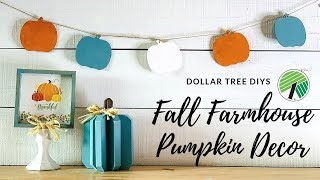 🍂Dollar Tree DIY Fall Farmhouse Pumpkin Decor🍂