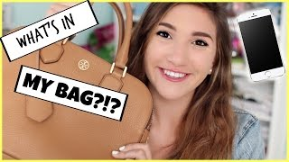 What\u0026#39;s in my bag? Tory Burch Robinson Double Zip Tote by ...