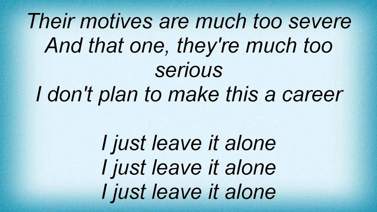 living colour leave it alone lyrics