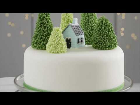 Simple Christmas Cake Designs