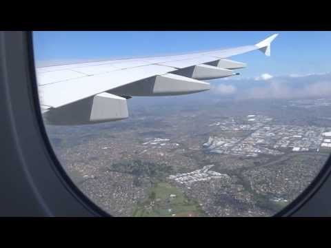 Emirates A380 Landing In Auckland