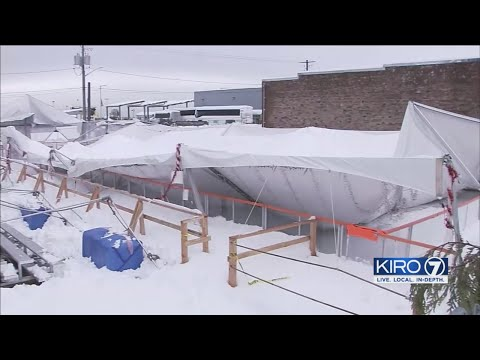 VIDEO: Overnight Snow Hammers Port Angeles