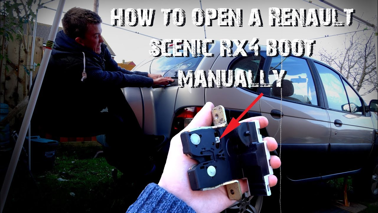 how to open a renault scenic rx4 boot manually