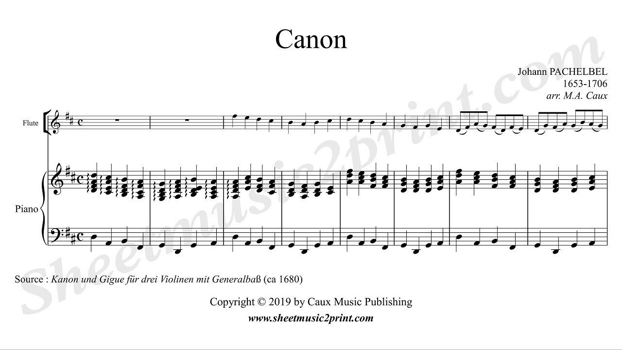 Pachelbel - Canon in D Major - Weddingmusic2print