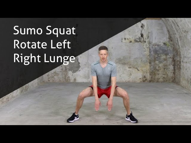 Sumo Squat Rotate Left Right Lunge - hoe voer ik deze oefening goed uit?