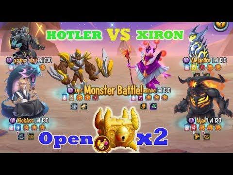 Monster Legends - Holter bodyguard vs Xiron Multiplayer season 21 random combat