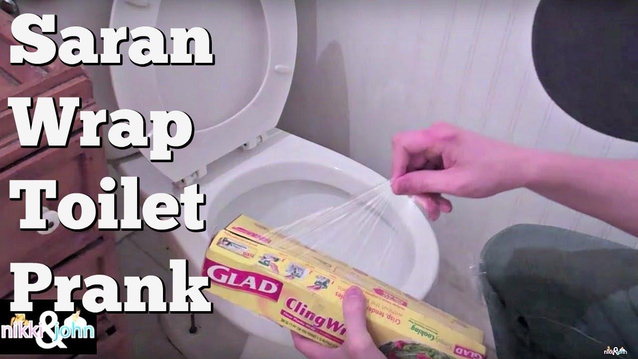 Saran Wrap Toilet Prank Youtube