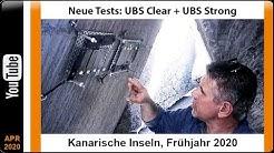 Neue Tests: UBS Clear + UBS Strong - Kanarische Inseln, Frühjahr 2020