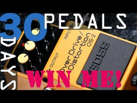 Boss OS-2 Overdrive Distortion Bitesize Review - 30 Days, 30 Pedals - WIN!