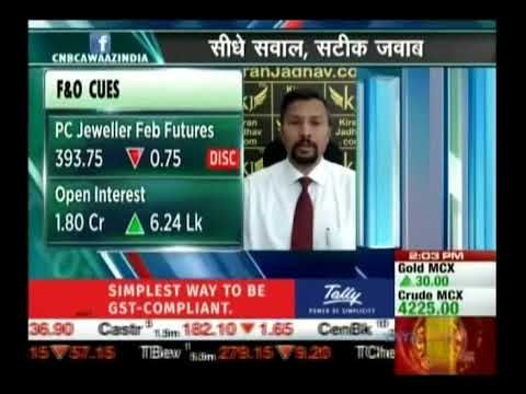 Kiran Jadhav, Technical Analyst, KiranJadhav.com on CNBC Awaaz 02nd Feb 2018