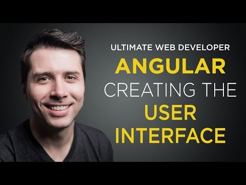 AngularJS Tutorial: [#6] Creating the User Interface - Getting Started with AngularJS
