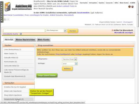 Auktion:NG Shopimport Gambio, Oxid, XTCommerce 3 + 4(Veyton)