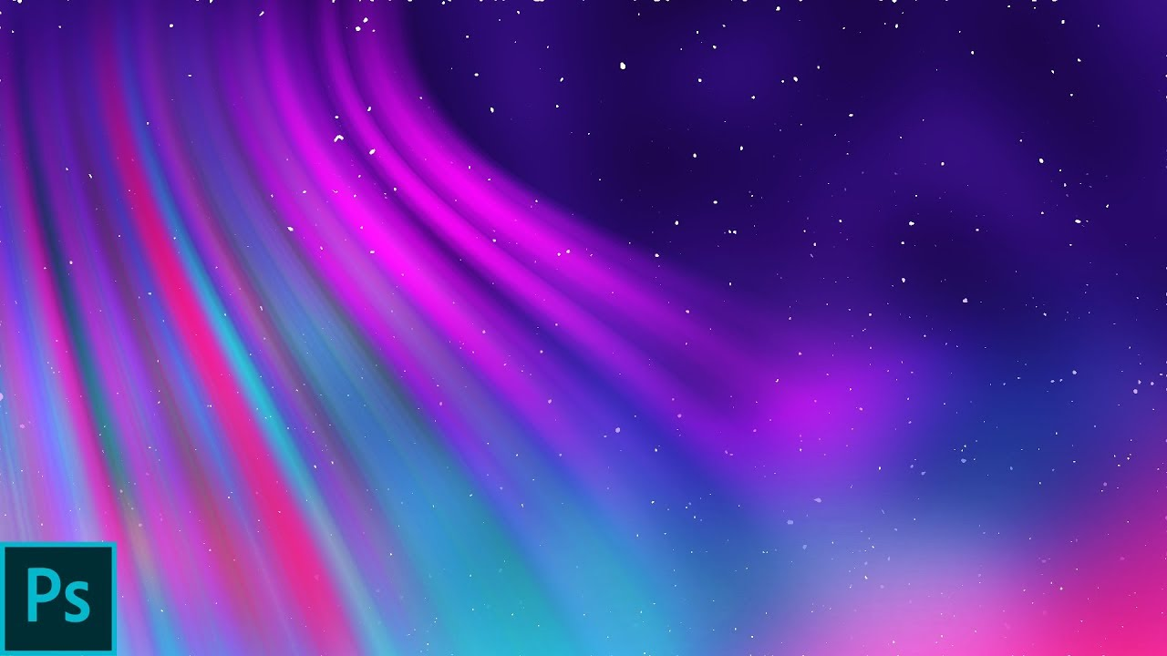 How To Create A Northern Light Style Abstract Wallpaper In