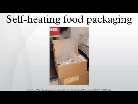 Self-heating food packaging