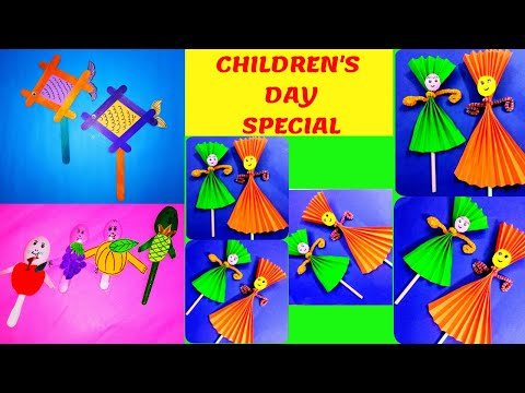 CHILDREN'S DAY SPECIAL || 3 IN 1 CRAFT FOR KIDS|| VERY EASY CRAFT IDEAS