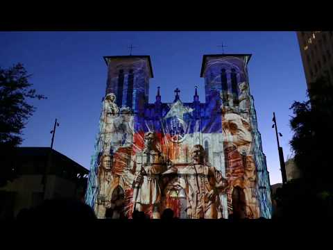 Laser Light Show San Fernando Cathedral 2016