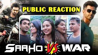 SAAHO V/S WAR TEASER | PUBLIC REACTION | Biggest Action Thriller | Prabhas | Hrithik | Tiger