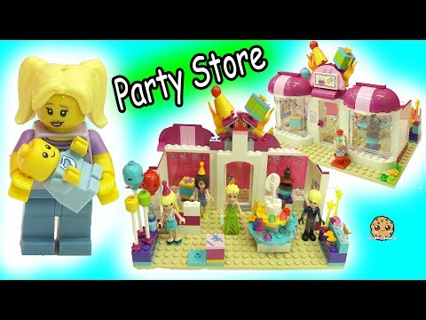 Queen Elsa Shops with Kristoff at LEGO Friends Party Store - Baby Gets Lost