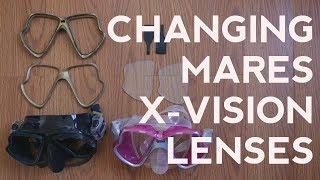 Changing Mares X-Vision Lenses…