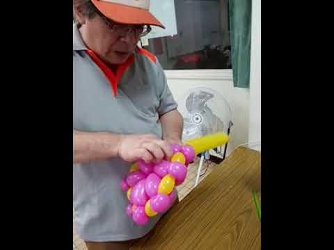 雅夫的爸-造型氣球基礎班20190508教學(折法練習)仿作-花 - YouTube