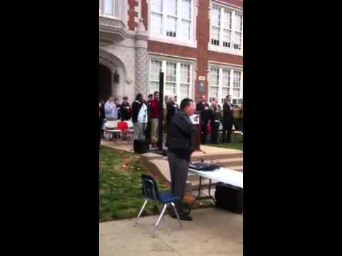 National Anthem Nick Chatham IB World School dedication Woodrow Wilson High School Dallas