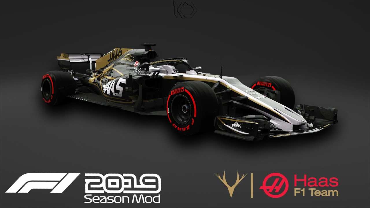 F1 2019 Haas Rich Energy Livery Romain Grosjean Gameplay