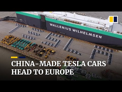 Tesla exports first China-made cars to Europe with shipment of 7,000 Model 3 electric sedans