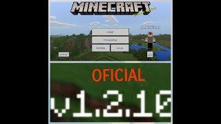 ⭐️Nova Versão Minecraft 1.2.10 Oficial/ Com Novas Opções📥