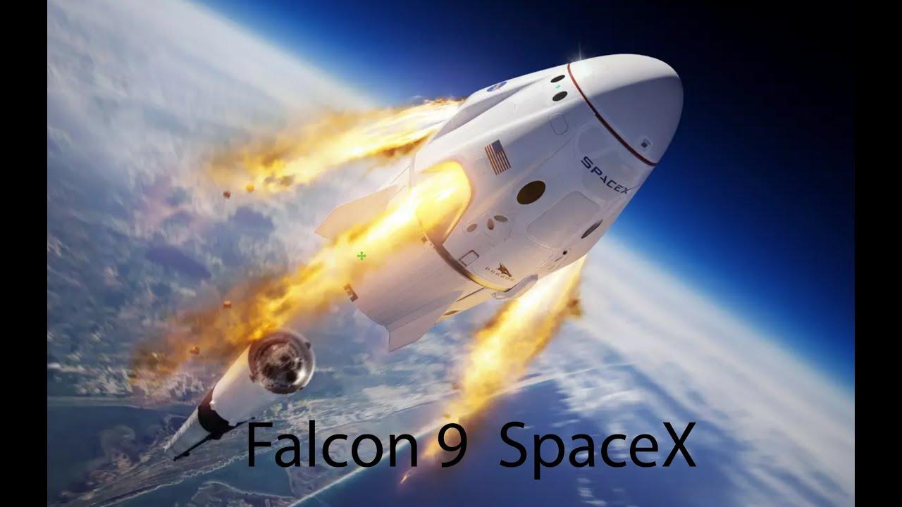 Download SpaceX's Falcon 9 rocket took off, Do kosmu vzlétla raketa Falcon 9 společnosti SpaceX