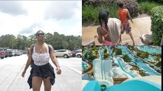 Men timoun yo mennen m' Disney World, Blizzard Beach Water Park, Ann ale avem