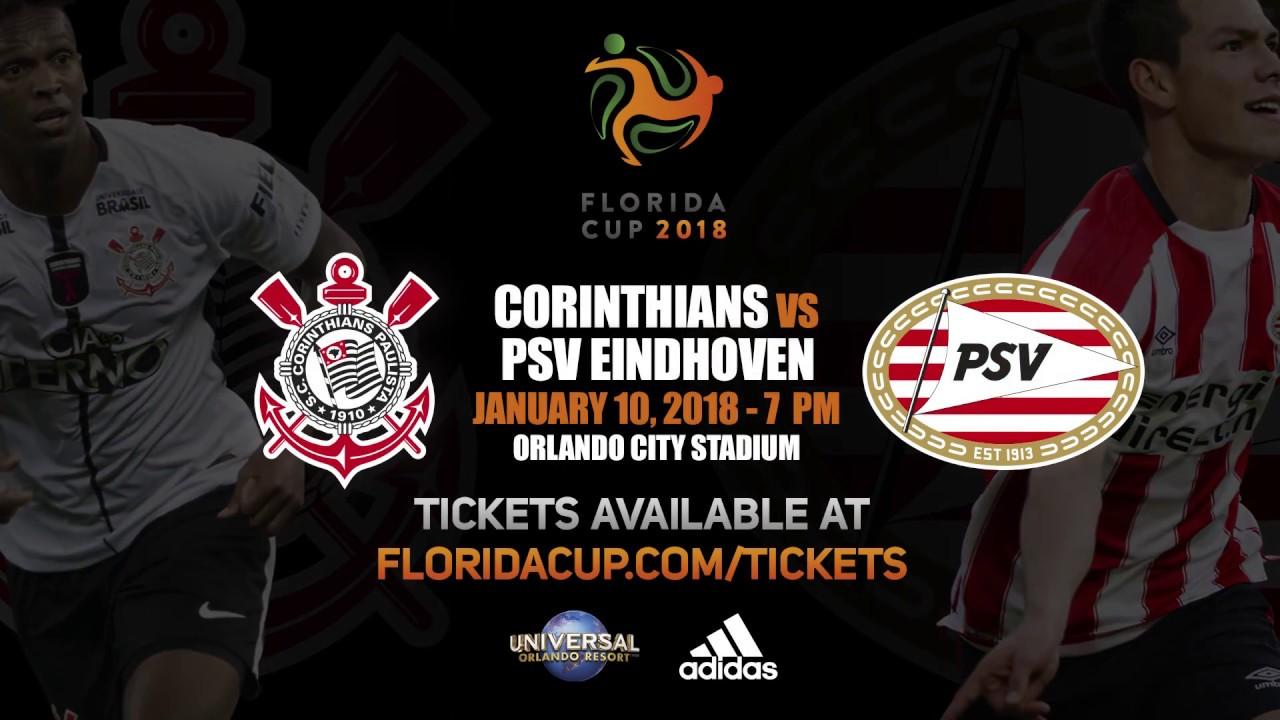Resultado de imagem para Corinthians x PSV - Flórida CUP