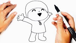 How to draw Pocoyo | Pocoyo Easy Draw Tutorial