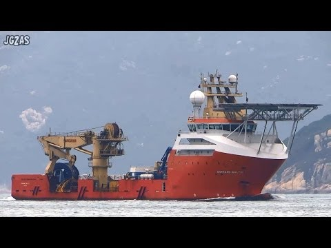 [船] NORMAND BALTIC Construction Support Vessel オフショア支援船 香港沖 2014-MAR