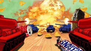 Roblox Tiny Tanks | TANK WARS: RED vs BLUE (Roblox Adventures)