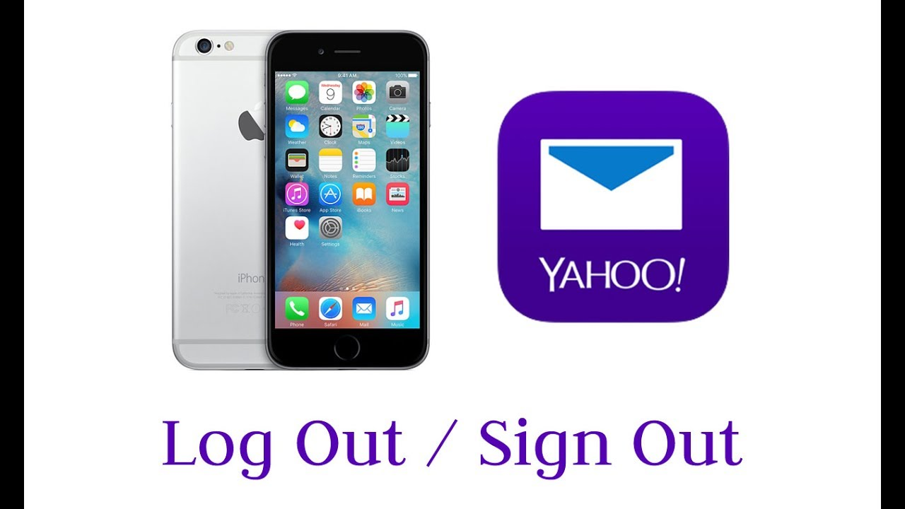how to logout of mail on iphone how to log out sign out yahoo mail app on iphone ipod 8416