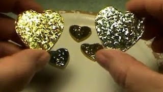 DIY~Make  A Gorgeous, Shiny Heart Pendant Necklace For Pennies!