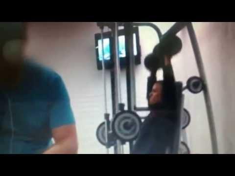 Obamas Workout / Footage of Obama's Workout at Holmes Place Warsaw