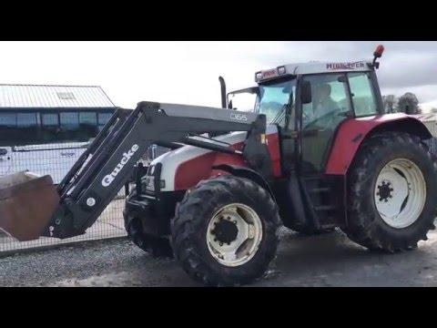 STEYR 9145 HIGH TECH 4WD 150HP TRACTOR C/W FRONT LOADER