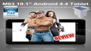 M63 10.1 Android 4.4 Tablet Review, Unboxing and How to Root, Allwinner A33 Quad-Core