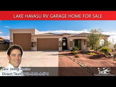 Lake Havasu RV Garage homes 3758 Buoy Ln MLS 923464 - YouTube on homes with rv garage barn, homes with rv garage in california, homes with garage doors,
