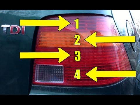 How to identify VW Golf Mk4 / Bora / Jetta tail light bulbs